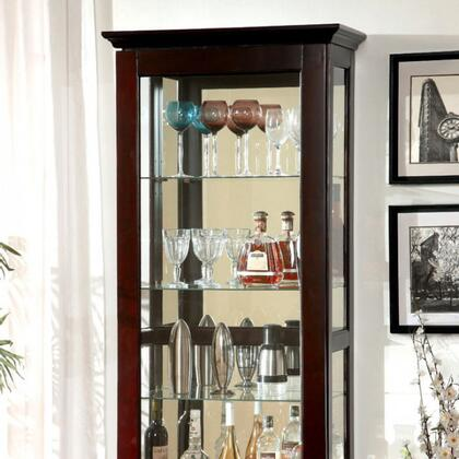 Furniture of America Ludden CMCR135 Curio Cabinet , cm cr135