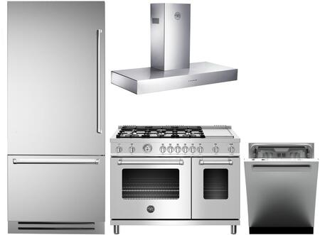 Bertazzoni  1096078 Kitchen Appliance Package Stainless Steel, Main Image