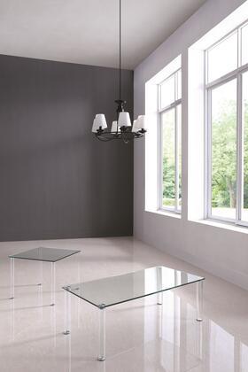 8713-ST Contemporary All Glass Sofa