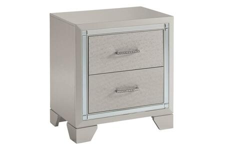 Signature Design by Ashley Lonnix B41092 Nightstand Silver, B41092 Main View