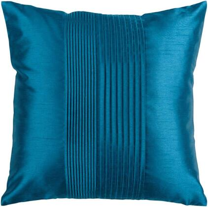 Surya Solid Pleated HH0241818P Pillow Blue, hh024 1818