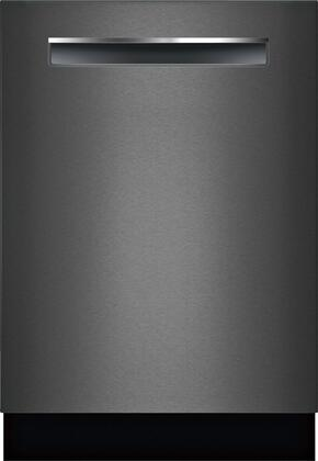 Bosch 800 Series SHPM78Z54N Built-In Dishwasher Black Stainless Steel, Front View
