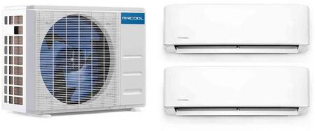 DIY Series Dual Zone Mini Split System with 36000 Cooling and Heating BTU Capacity  2x Wall Mount Indoor Unit and Heat Pump