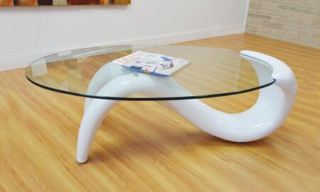 Grako Design  GT03WHITE Coffee and Cocktail Table White, Main Image