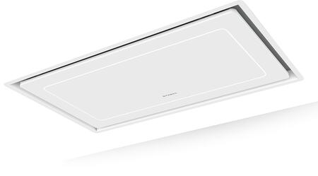 HILTIS36WHNB 36″ High-Light Matte White Ceiling Mount Range Hood with LED Lighting  Remote Control  Perimetric Filter System and Delay Shut