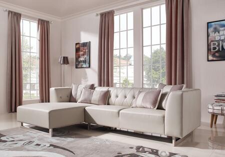 VIG Furniture Divani Casa Carolina VGMB1673 Sectional Sofa Beige, Main Image