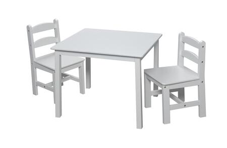 3018W Children's Table and Chair Set with 2 Chairs in