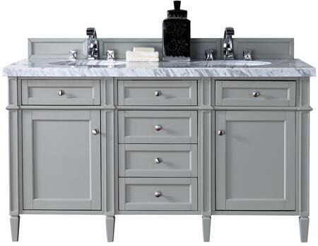 James Martin Brittany 650V60DUGR2CAR Sink Vanity Gray, Main Image