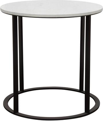 SURFACEETMA_Surface_Round_End_Table_with_Engineered_Marble_Top_&_Black_Powder_Coated_Metal