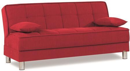 Casamode Smart Fit SMARTFITSOFABEDRED24341 Sofa Bed Red, Main Image