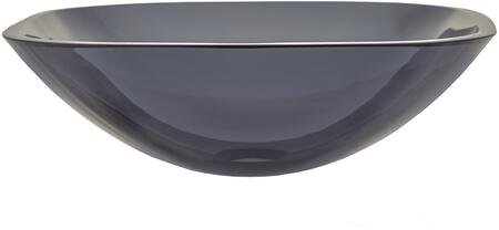 EB_GS58 17″Vessel Sink with Square Corners  1 Year Limited Warranty  Round Shape and Tempered Glass Material in Onyx Black