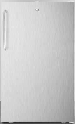 CM411L7SSTB 20″ Compact Refrigerator with 4.1 cu. ft. Capacity  Commercially Listed  Factory Installed Lock and Crisper Drawer in Stainless