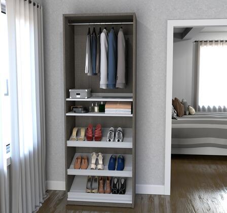 Bestar Furniture 8016647 Shoe Rack, bestar cielo bark gray 80166 47 room