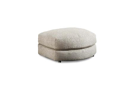 Minnesota Collection 181416-2005-O-HP Bumper Ottoman with Engineered Wood Construction  Transitional Style  Homespun Platinum Polyester Fabric in