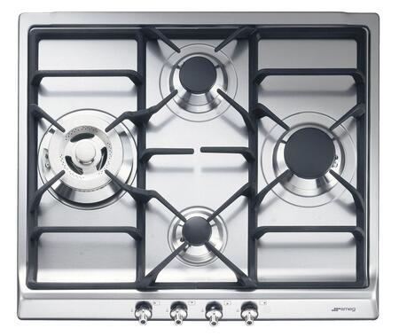 Smeg Classic Design SR60GHU3 Gas Cooktop Stainless Steel, Main Image