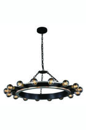 Elegant Lighting 1500D35VBSL Ceiling Light, Image 1
