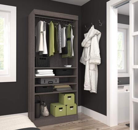 Bestar Furniture 2616047 Cabinet, bestar pur murphy bed bark grey 26160 47 room