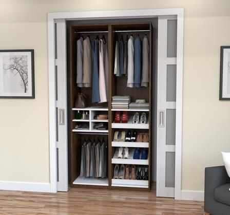 Bestar Furniture 8085530 Wardrobe, bestar cielo oak barrel 80855 30 room