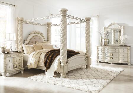 Signature Design by Ashley Cassimore B750KCBDMN Bedroom Set Silver, Main Image
