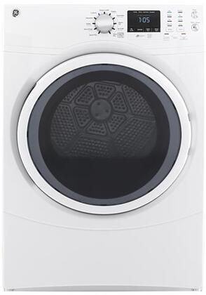 "GE GFD43ESSMWW 27"" Electric Dryer with 7.5 cu. ft. Capacity  Front Load  Dura Drum"