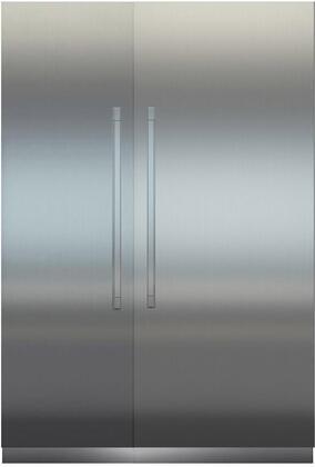 60″ Side By Side Column & Freezer Set with MRB3600 36″ Right Hinge Refrigerator  MF2451 24″ Left Hinge Freezer  Door Panels and Monolith Brushed