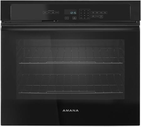 Amana AWO6313SFB Single Wall Oven Black, Main Image