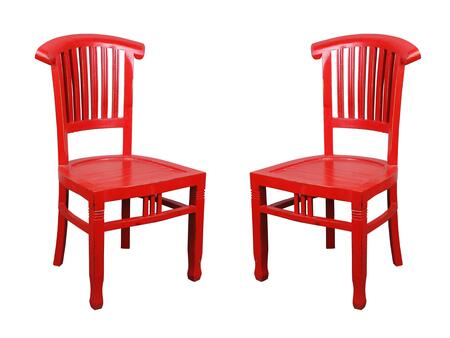 Sunset Trading Shabby Chic Cottage CCCHA006LDRD2 Dining Room Chair Red, Main Image
