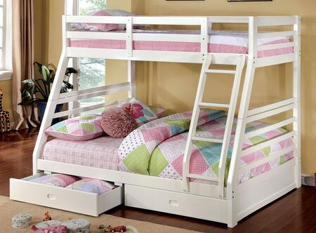 Furniture of America California III CMBK588WHBED Bed White, 1