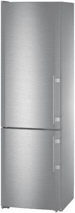 Liebherr  CS1321N Bottom Freezer Refrigerator Stainless Steel, CS1321N Angled View
