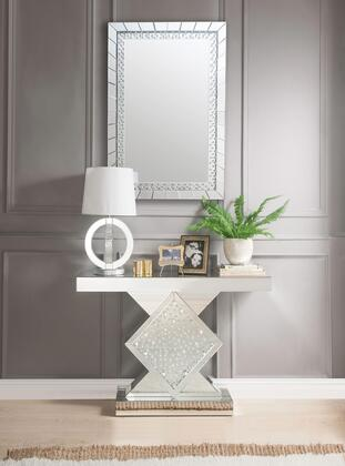 Acme Furniture Nysa 90068SET Console Silver, Console Table and Mirror