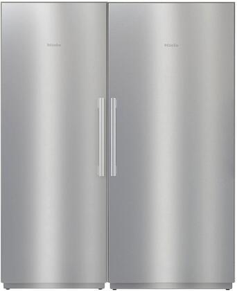 Miele  1330479 Column Refrigerator & Freezer Set Stainless Steel, 1