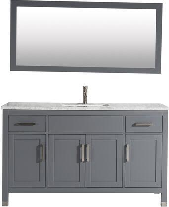 Ricca Collection MTD-6260SG 60″ Single Sink Bathroom Vanity Set in