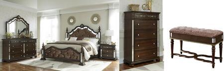 Global Furniture USA Global Furniture USA DIANABRFBDCHBMNS Bedroom Set Brown, DIANA BR br set 1   Copy