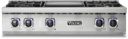 Viking 7 Series VRT7364GSSLP Gas Cooktop Stainless Steel, VRT7364GSSLP Main Image