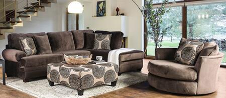 Furniture of America Bonaventura SM5143BRSSCHOT Living Room Set Brown, main image