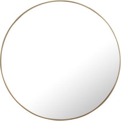 MR4048BR Metal Frame Round Mirror 48″ Brass