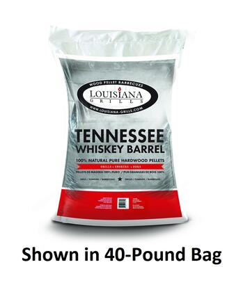 Louisiana Grills 55210 Other Grill Accessories, Premium Limited Blend Tennessee Whiskey Barrel 20 Pound Bag