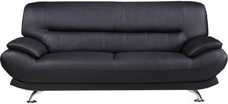 American Eagle Furniture EK-B118 EKB118BKSF Stationary Sofa Black, Main Image