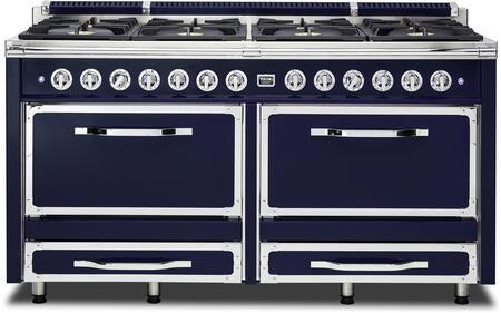 Viking Tuscany TVDR6608BDB Freestanding Dual Fuel Range Blue, Main Image