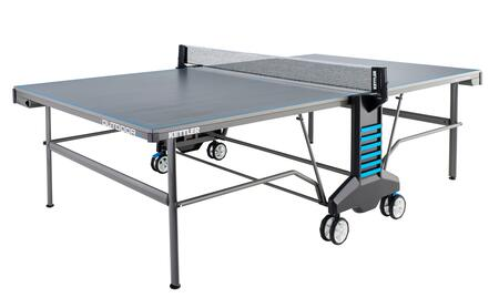 Outdoor 6 7177-950 Table Tennis Table with Cover Included  4 Racquets  6 White Table Tennis Balls  Sealed Aluminum Composite Tournament Top and 2