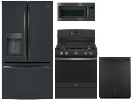 GE  869294 Kitchen Appliance Package & Bundle Black Slate, Main image