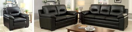 Furniture of America Parma CM6324BKSLC Living Room Set Black, main image