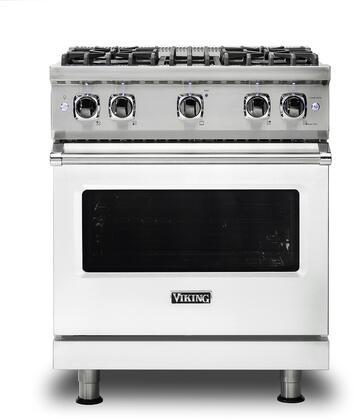 Viking 5 Series VGR5304BFWLP Freestanding Gas Range White, VGR5304BFWLP Gas Range
