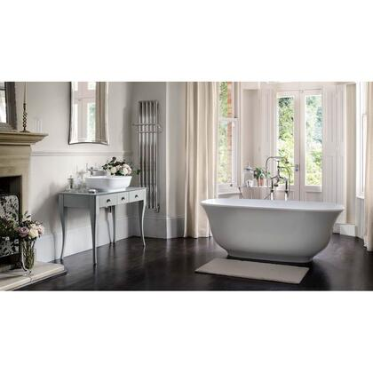Amiata AMTM-N-SM-OF 65″ Freestanding Bathtub with Overflow  in White