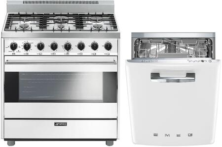 Smeg 1054449 Kitchen Appliance Package & Bundle White, main image