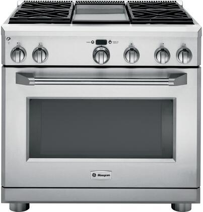 "Monogram Appliances ZDP364NDPSS Freestanding Dual Fuel Range Stainless Steel, ZDP364NDPSS 36"" Dual-Fuel Professional Range"