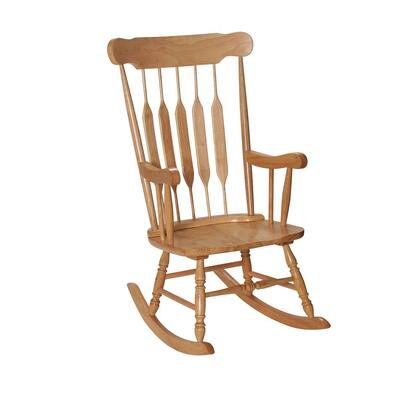 3800N Natural Solid Wood Handcrafted Adult Rocking Chair in Natural
