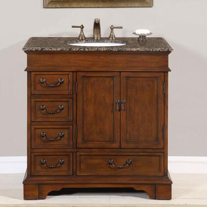 Silkroad Exclusive Ashley HYP0212BBUWC36 Sink Vanity Brown, 1