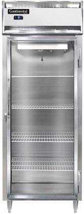 Continental Refrigerator Designer Line D1FESNSAGD Commercial Reach In Freezer Stainless Steel, D1FESNSAGD Reach-In Freezer