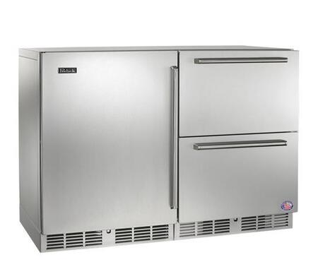 Perlick Signature HP48FRS1L5 Side-By-Side Refrigerator Stainless Steel, 1